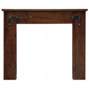 The Thakat Fine Wood Fireplace Surround - Chestnut Solid Acacia