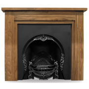The Tiffany Cast Iron Fireplace Insert