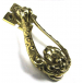 PPS Traditional Antique Victorian Style Deep Loop Solid Cast Brass Door Knocker