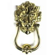 Traditional Antique Victorian Style Downing Street Lion Head Cast Brass Door Knocker