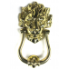 PPS Traditional Antique Victorian Style Downing Street Lion Head Cast Brass Door Knocker