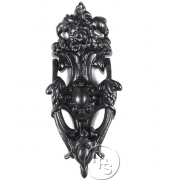 Traditional Antique Victorian Style English Rose Cast Iron Door Knocker - Black