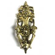 Traditional Antique Victorian Style English Rose Solid Cast Brass Door Knocker