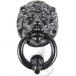 PPS Traditional Antique Victorian Style Lion Head Cast Iron Door Knocker - Black