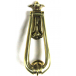 PPS Traditional Antique Victorian Style Teardrop Loop Solid Cast Brass Door Knocker