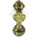 PPS Traditional Antique Victorian Style Victoriana Solid Cast Brass Door Knocker