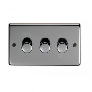 From the Anvil Triple 400W Dimmer Switch - Black Nickel