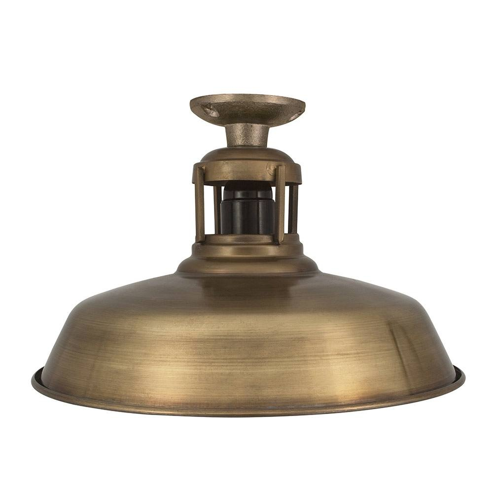 Barn Slotted Flush Mount Ceiling Light, Industrial Style