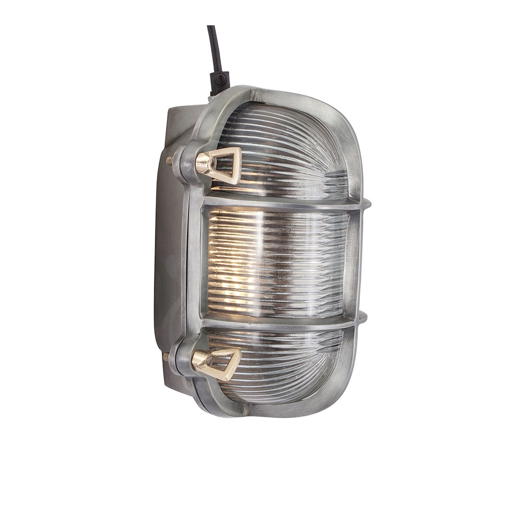 Industrial style retro bulkhead wall light in pewter patina industville vintage industrial style oval bulkhead retro wall lightflush mount pewter patina aloadofball Images