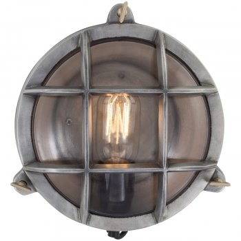 Industrial Style Wall Mounted Lights : Vintage Industrial Style Round Retro Bulkhead Wall Light/Flush Mount
