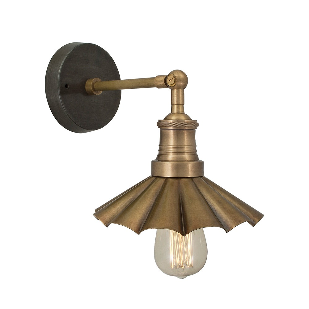Vintage Brass Wall Lamps : Vintage Industrial Style Brass 8 Inch Umbrella Lamp Sconce