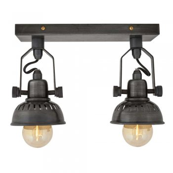 Industville Vintage Style Adjustable Swivel Spotlight Flush Mount - Double