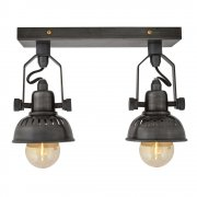 Vintage Style Adjustable Swivel Spotlight Flush Mount - Double