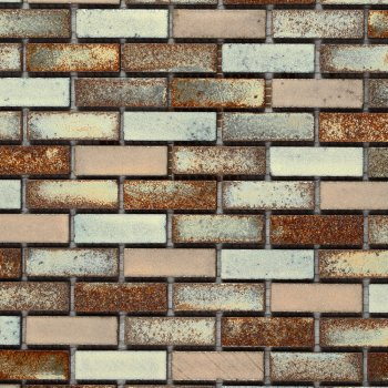 Marshalls Tile & Stone Zanzibar Small Brick Mosaic Tiles
